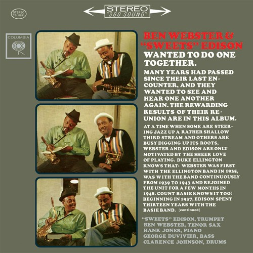 Ben Webster and Harry 'Sweets' Edison - Wanted To Do One Together